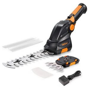 TACKLIFE Cordless Hedge Trimmer, 2-in-1